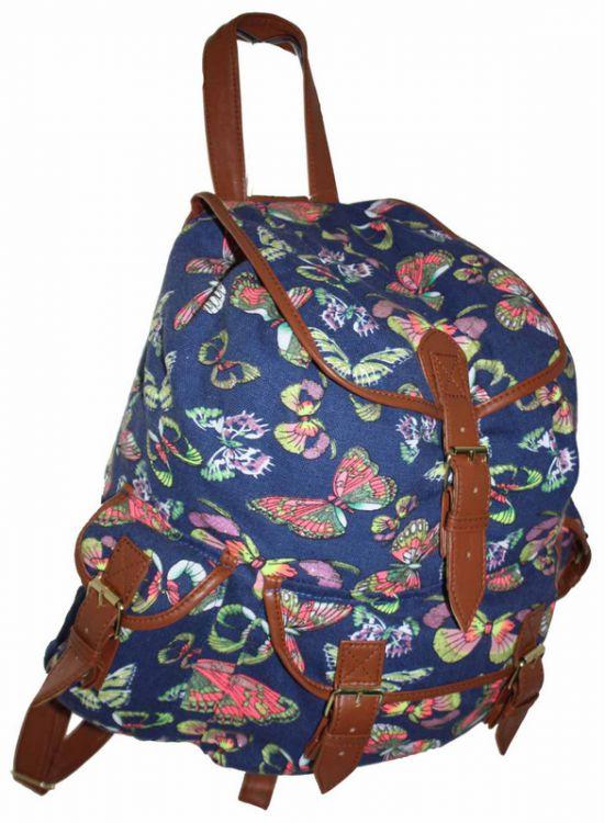 b5524d91f259 CB151 Motyle Neon Butterfly Plecak Wycieczkowy Szkolny Turystyczny Miejski  Damski plecaki .