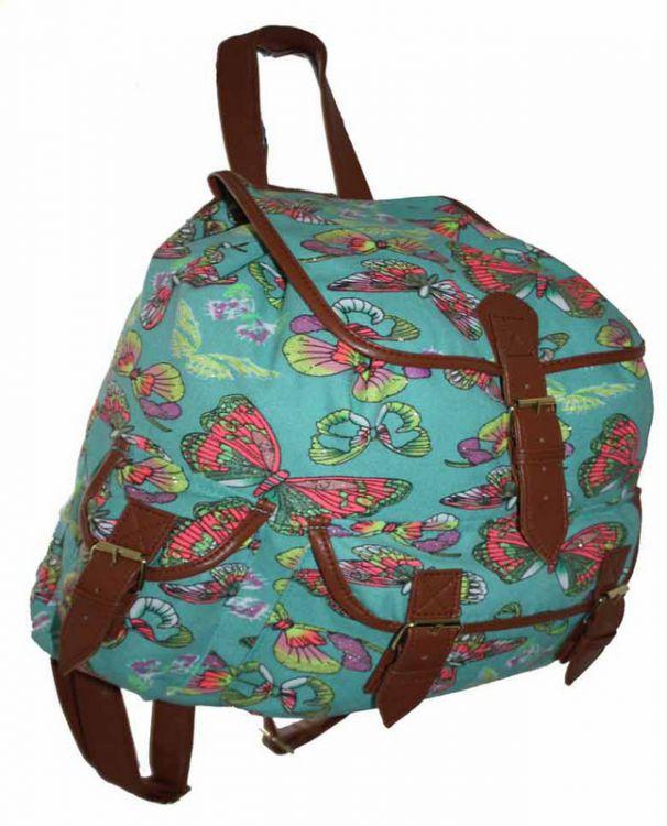 0b83c2758110a CB151 Motyle Neon Butterfly Plecak Wycieczkowy Szkolny Turystyczny Miejski  Damski plecaki .