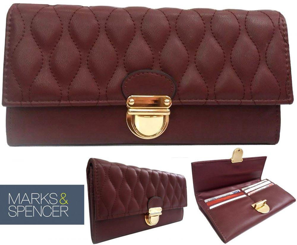 333ef8b559aed Gesteppt Damen Brieftasche Marks   Spencer ...