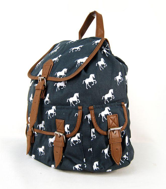 01c7d7e70a4e7 ... CB151 Plecak Horse Wycieczkowy Szkolny Turystyczny Miejski Damski  Vintage ...