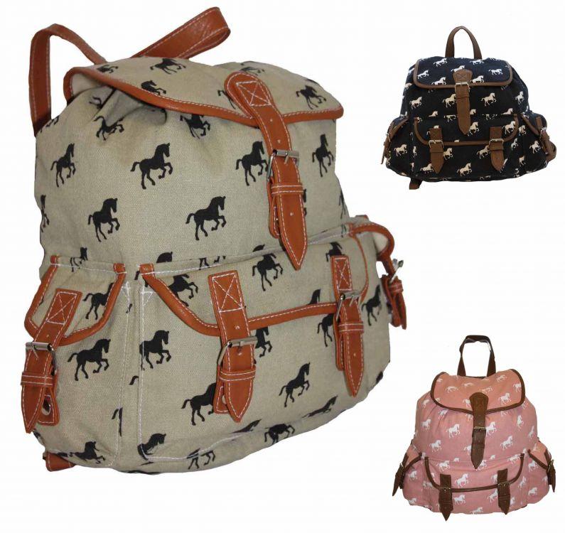 98d948cd507c ... CB151 Plecak Horse Wycieczkowy Szkolny Turystyczny Miejski Damski  Vintage ...
