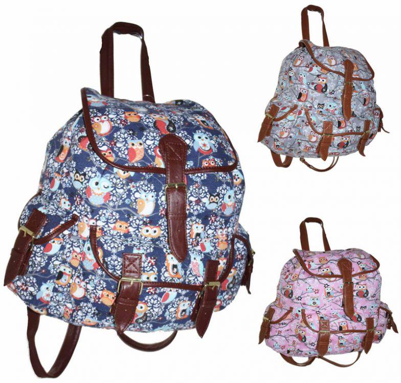 f63117b269139 CB151 Plecak Neon Sowy Wycieczkowy Szkolny Turystyczny Miejski Damski  Plecaki ...