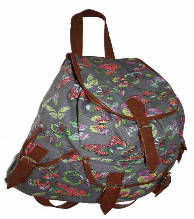 044c29fab478a ... CB151 Motyle Neon Butterfly Plecak Wycieczkowy Szkolny Turystyczny  Miejski Damski plecaki ...