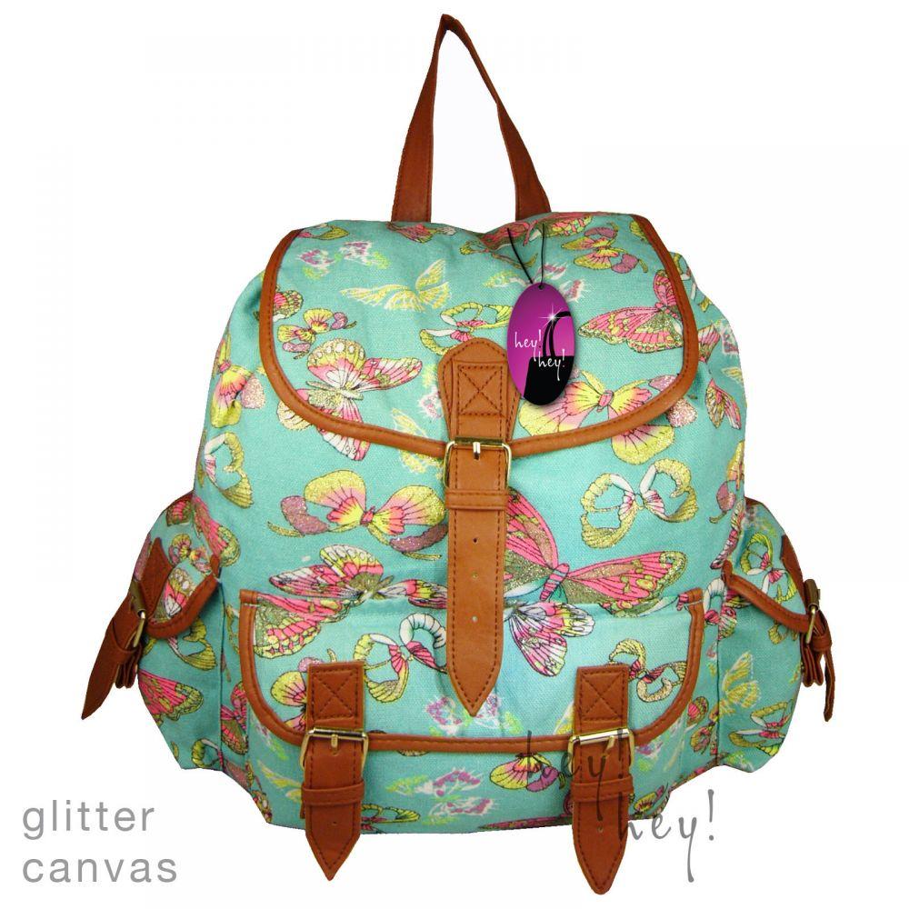 16aec2c680baf ... CB151 Motyle Neon Butterfly Plecak Wycieczkowy Szkolny Turystyczny  Miejski Damski plecaki ...