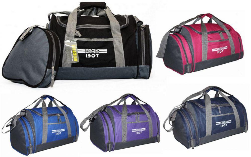 0b55ed29ce5c1 SB07 Torba Sportowa Podróżna Bagaż Podręczny z dopinaną kieszenią boczną  Unisex ...