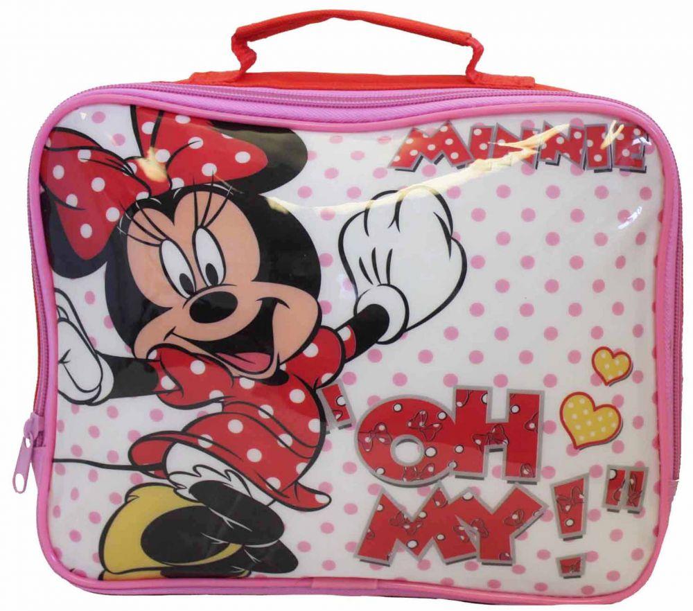 37134207c3 Myszka Minnie Różowy Lunch Box Dla Dzieci termiczna lodówka do szkoły