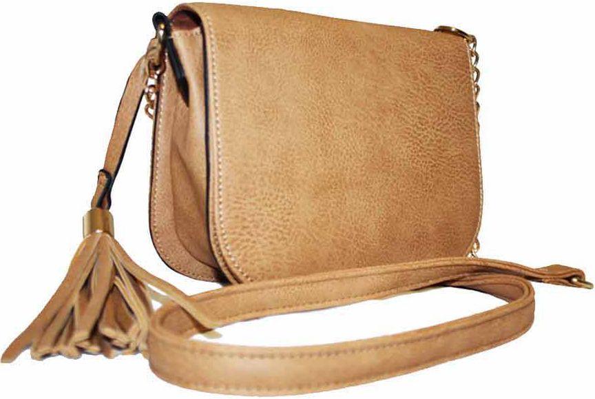 Piękna torebka listonoszka z frędzlami FB103 ADLEYS
