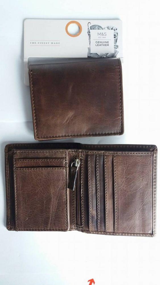 ea3c2c7ccb681 Oryginalny portfel męski skóra naturalna firmy Marks&Spencer 631 ...