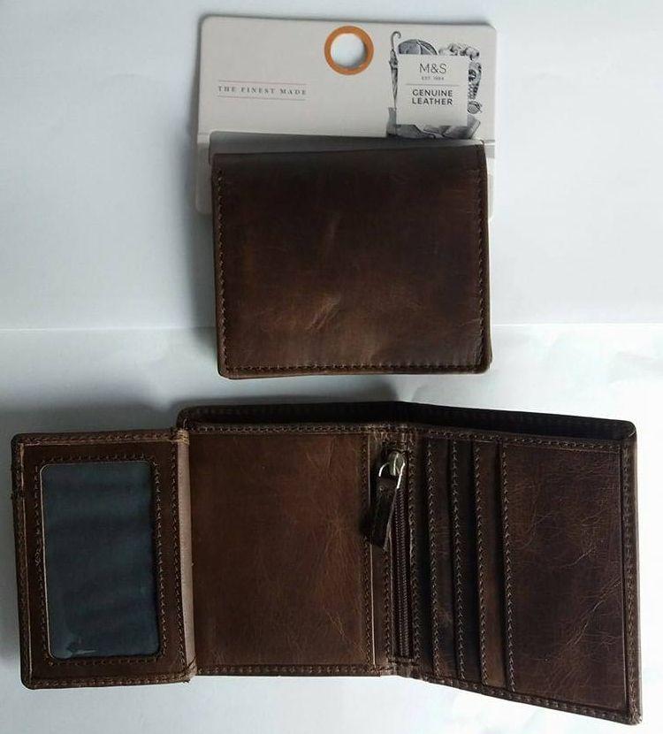 c51a362ead78b ... Oryginalny portfel męski skóra naturalna firmy Marks&Spencer 631