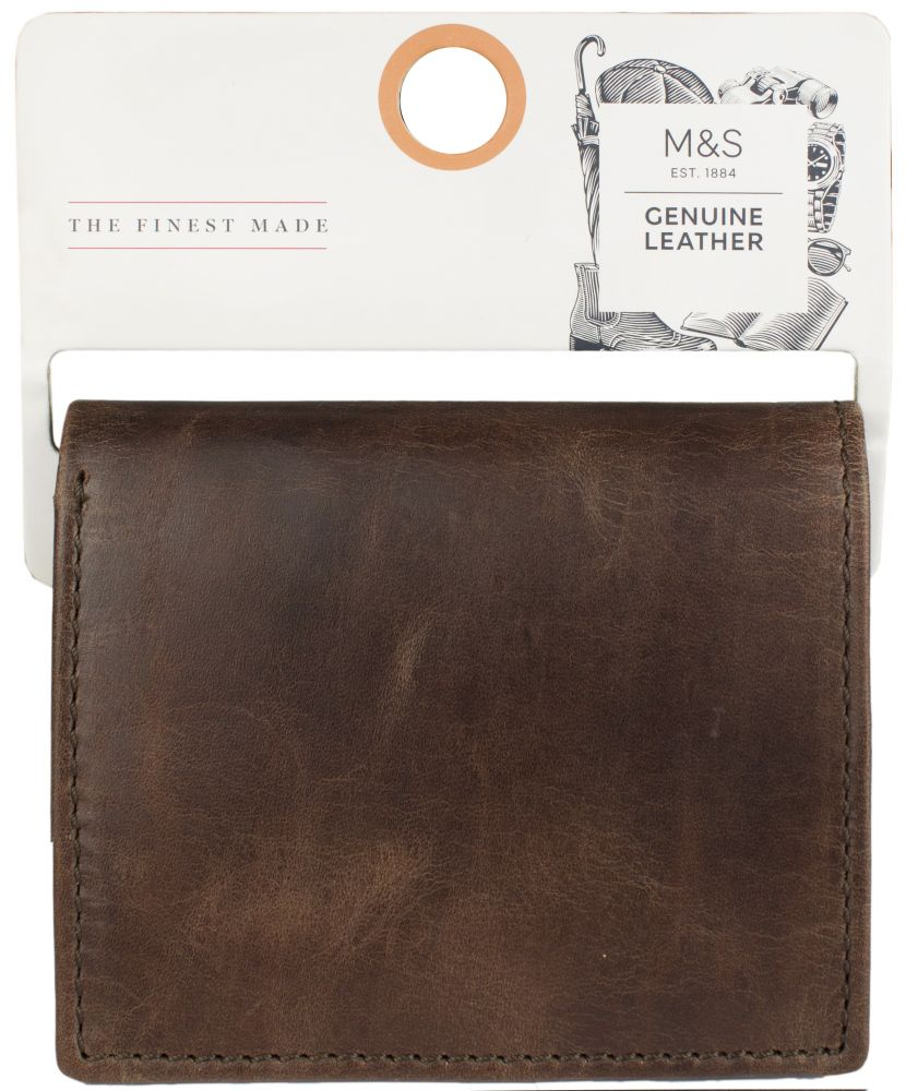 a080784ee5300 ... Oryginalny portfel męski skóra naturalna firmy Marks&Spencer ...