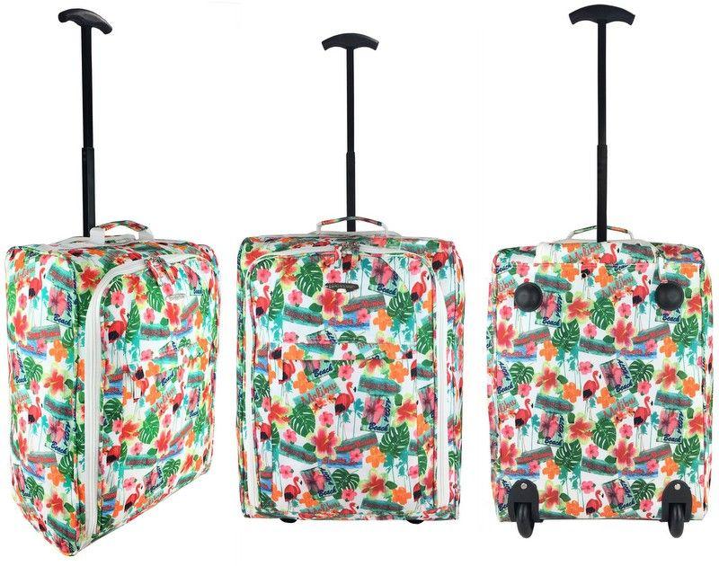 eb422505dc162 TB05 Flamingi Walizka Podróżna na kółkach super lekka bagaż podręczny  Ryanair, ...