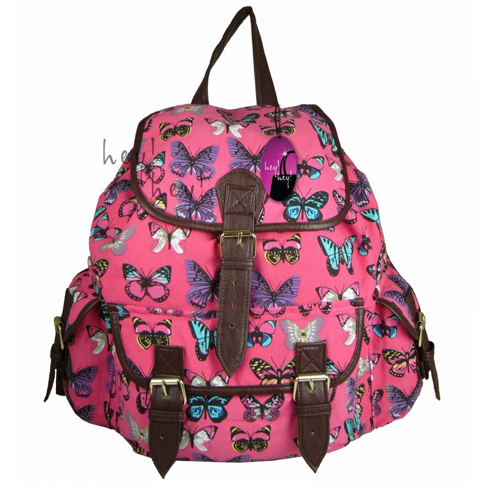 279cde6011260 CB151 Butterfly Plecak Wycieczkowy Szkolny Turystyczny Miejski Damski