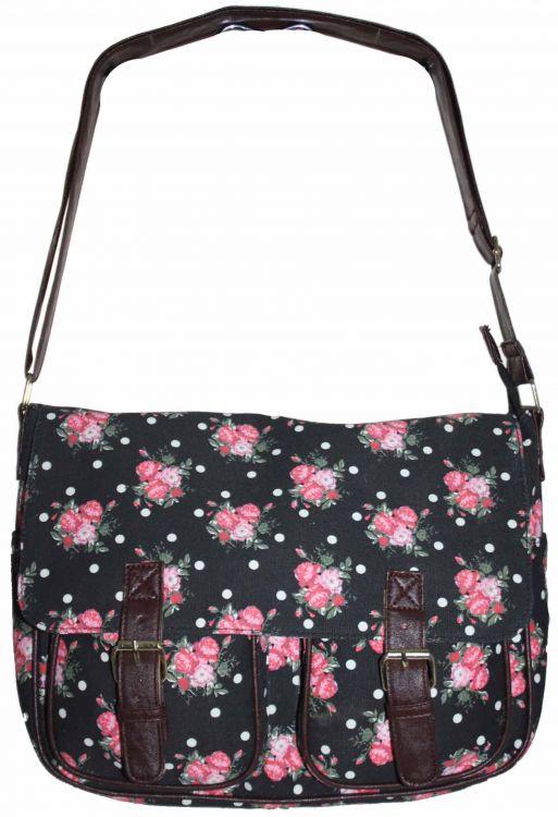 Damska torebka typu kuferek Rose czerwona - Brilu.pl
